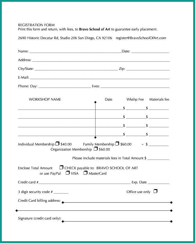 Workshop registration form altavistaventures Choice Image